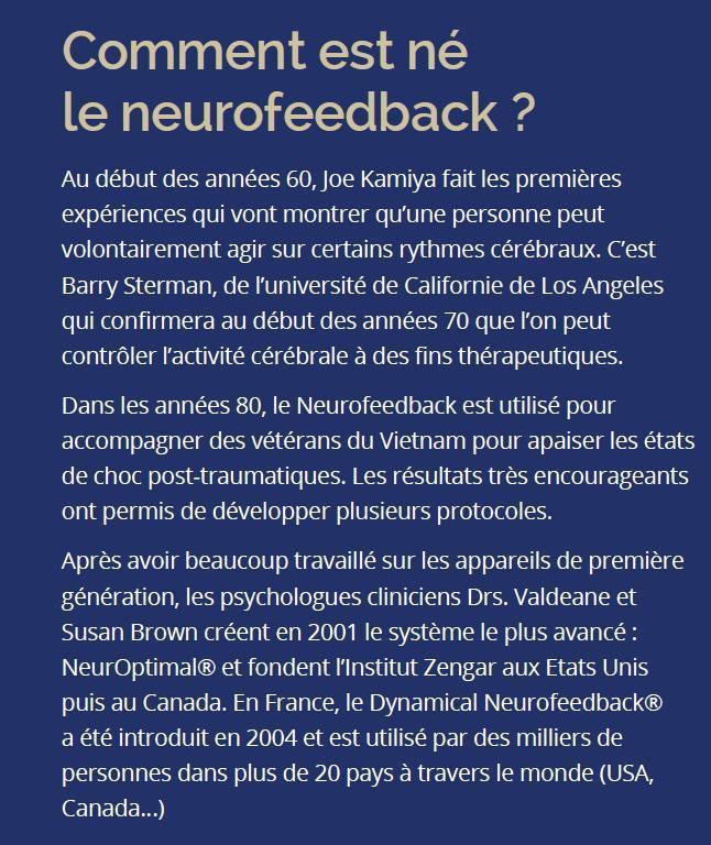 Comment est né le Neurofeeback